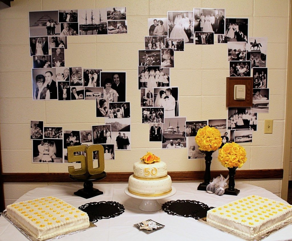 Decorations For 50th Birthday  50th Wedding Anniversary Decorations Ideas
