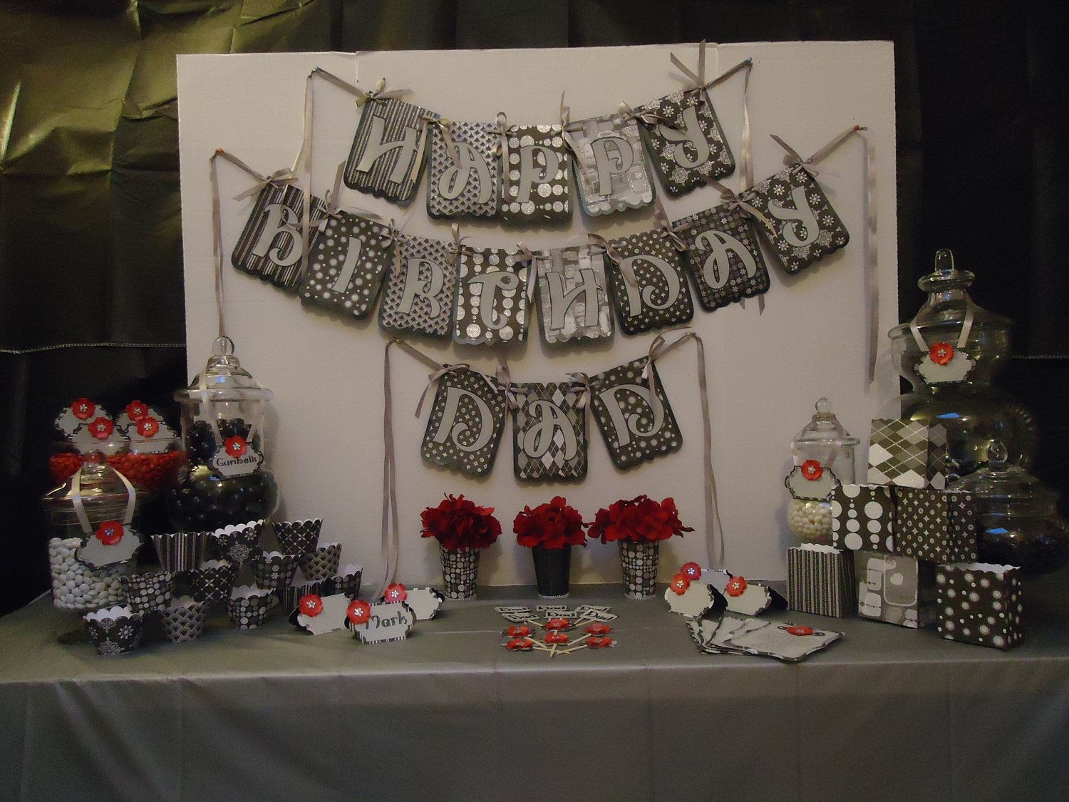Decorations For 50th Birthday  Elegant Birthday Party Centerpieces
