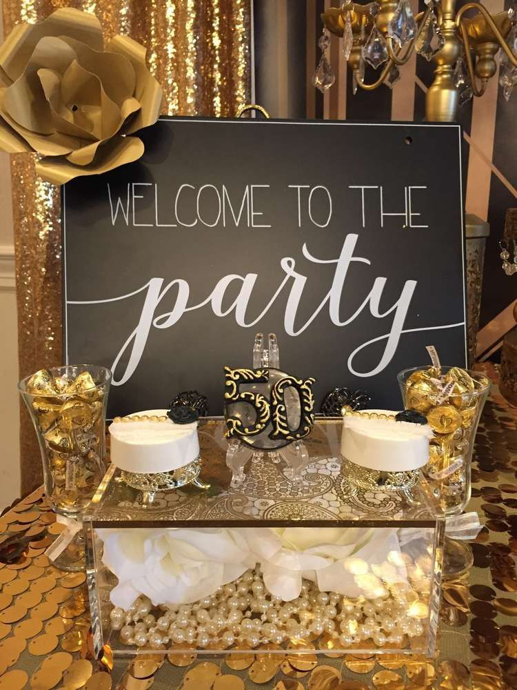 Decorations For 50th Birthday  Great Gatsby Birthday Party Ideas in 2019 Gatsby