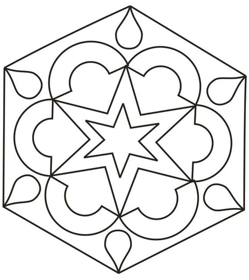 Design Coloring Pages For Kids  Rangoli designs coloring printable Pages for kids