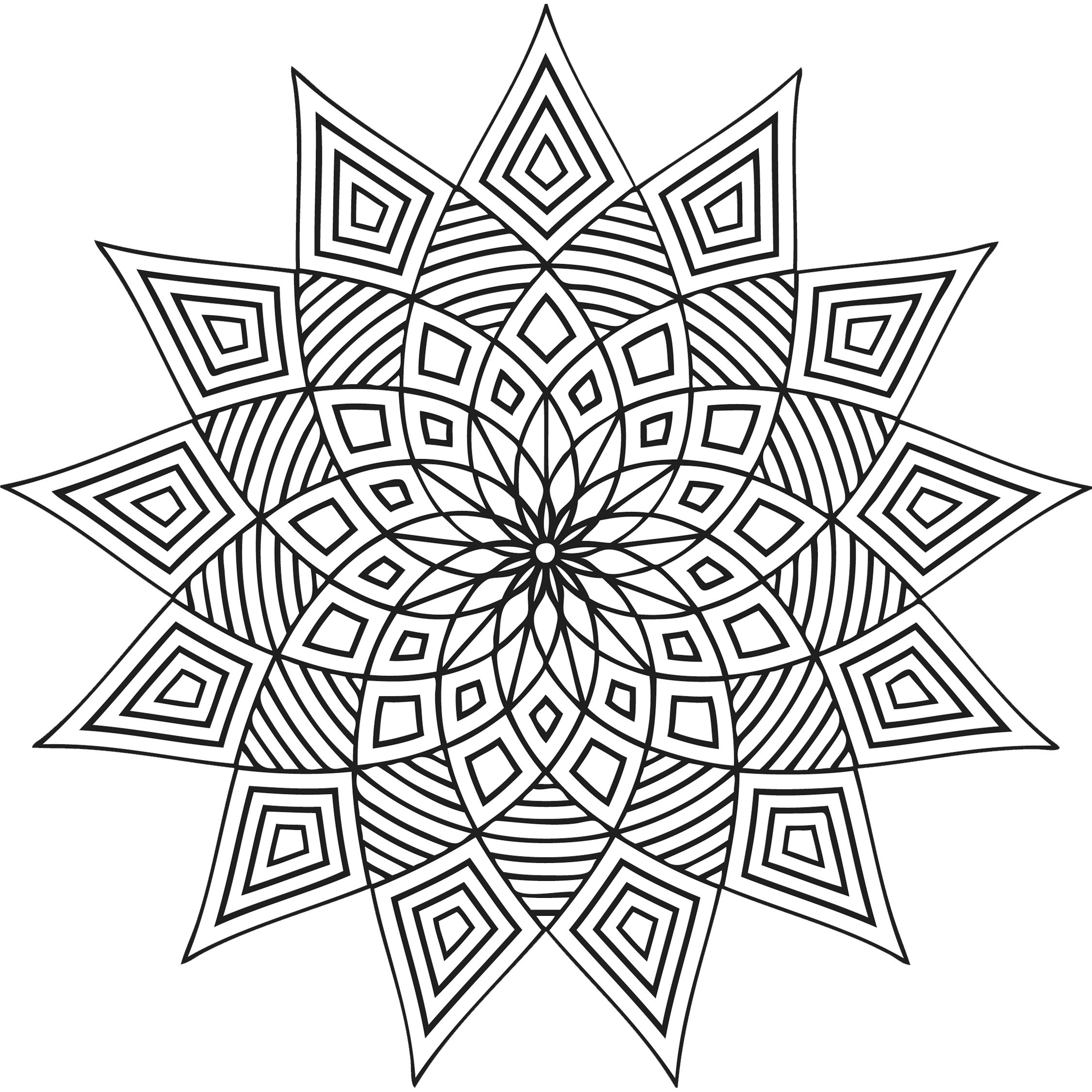 Design Coloring Pages For Kids  Free Printable Geometric Coloring Pages For Kids