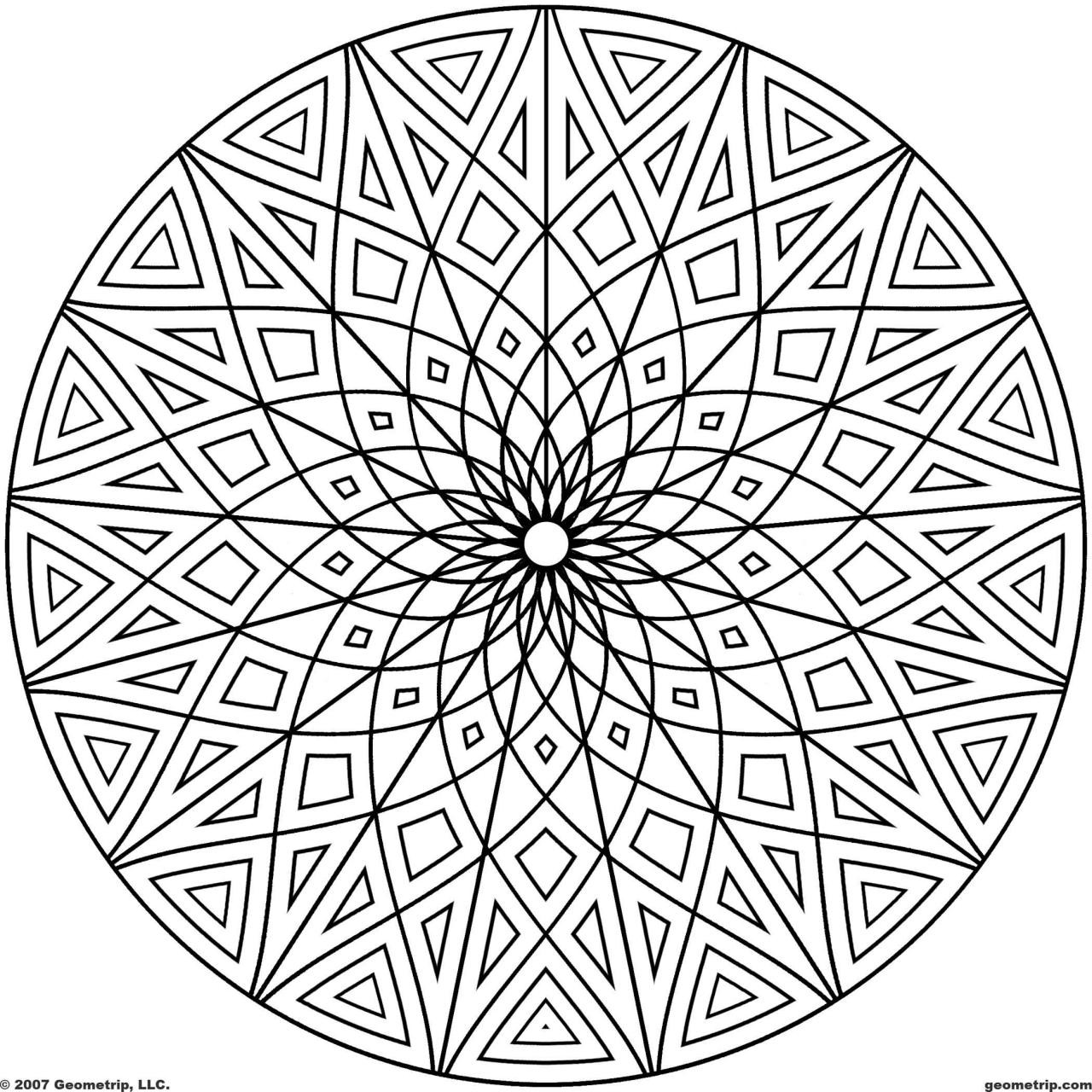 Design Coloring Pages For Kids  Cool Geometric Designs Coloring Page Coloring Page For