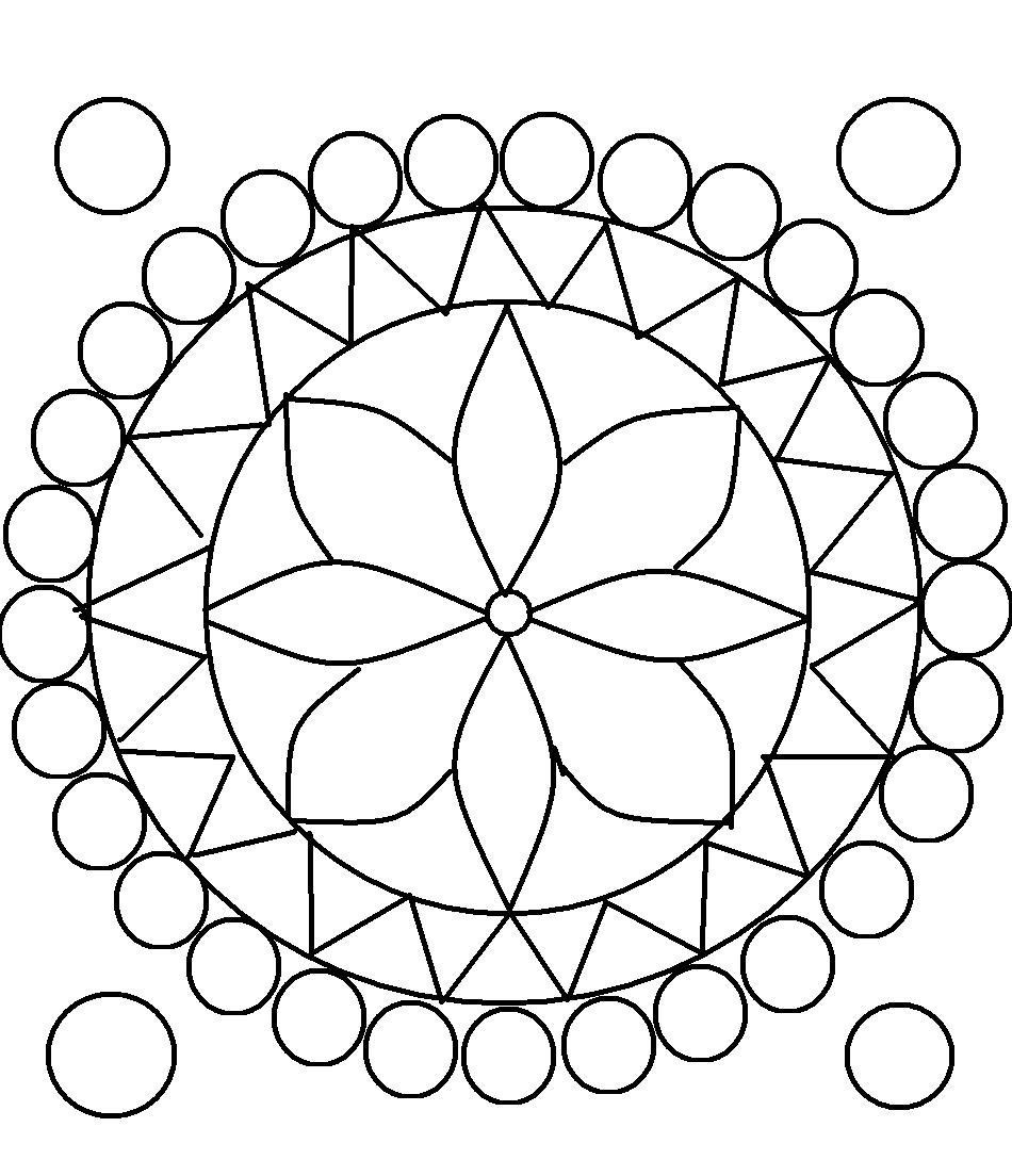 Design Coloring Pages For Kids  Free Printable Rangoli Coloring Pages For Kids