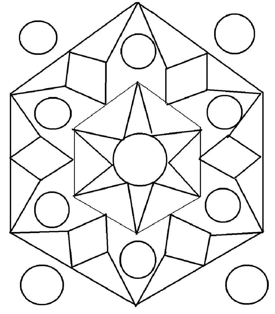 Design Coloring Pages For Kids  Rangoli Designs Printable Coloring Pages thekindproject