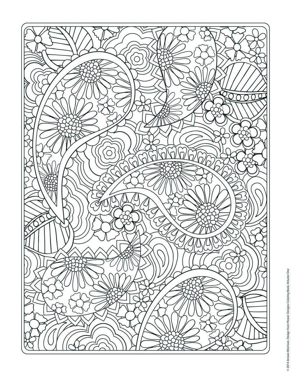 Design Coloring Sheets For Girls  Flower Designs Coloring Book — Jenean Morrison Art & Design