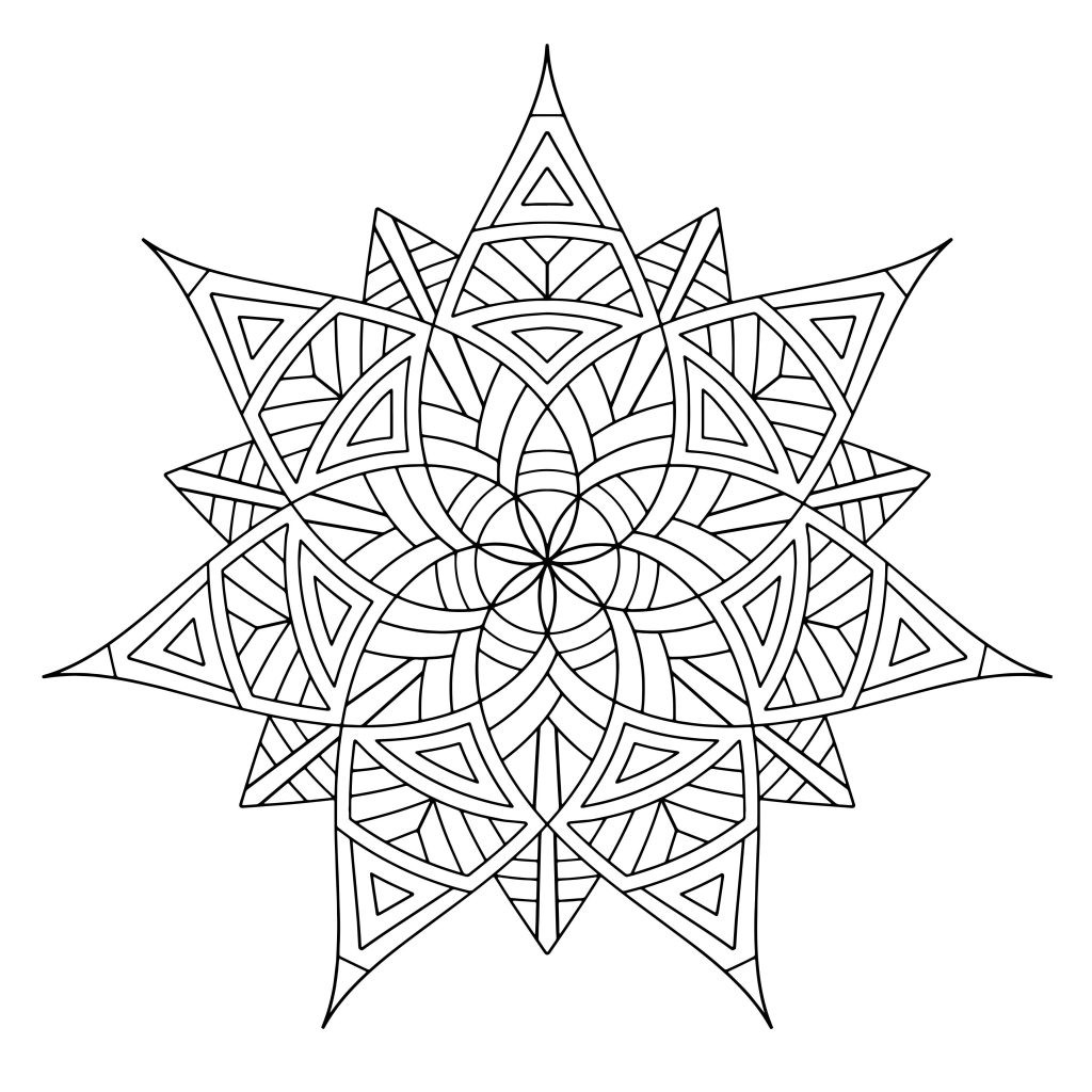 Design Coloring Sheets For Girls  Free Printable Geometric Coloring Pages For Kids