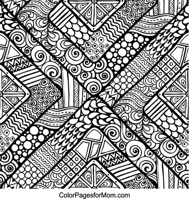 Design Coloring Sheets For Girls  Pattern Coloring Pages For Adults – Color Bros