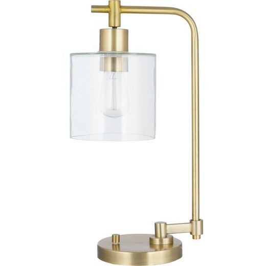 Best ideas about Desk Lamps Target . Save or Pin Hudson Industrial Desk Lamp Antique Brass Includes CFL Now.