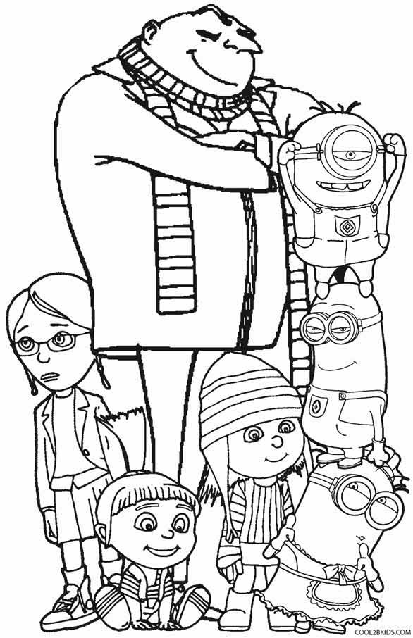 Despicable Me Coloring Pages  Printable Despicable Me Coloring Pages For Kids