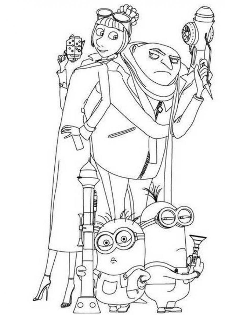 Despicable Me Coloring Pages  Free Coloring Pages Minions of Despicableme 9654