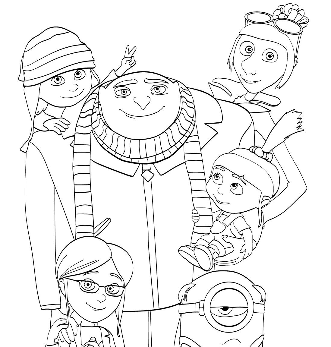 Despicable Me Coloring Pages  Despicable Me 3 coloring pages to and print for free