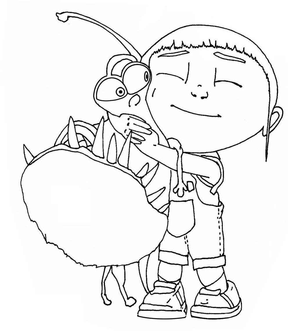 Despicable Me Coloring Pages  Free Printable Despicable Me Coloring Pages For Kids