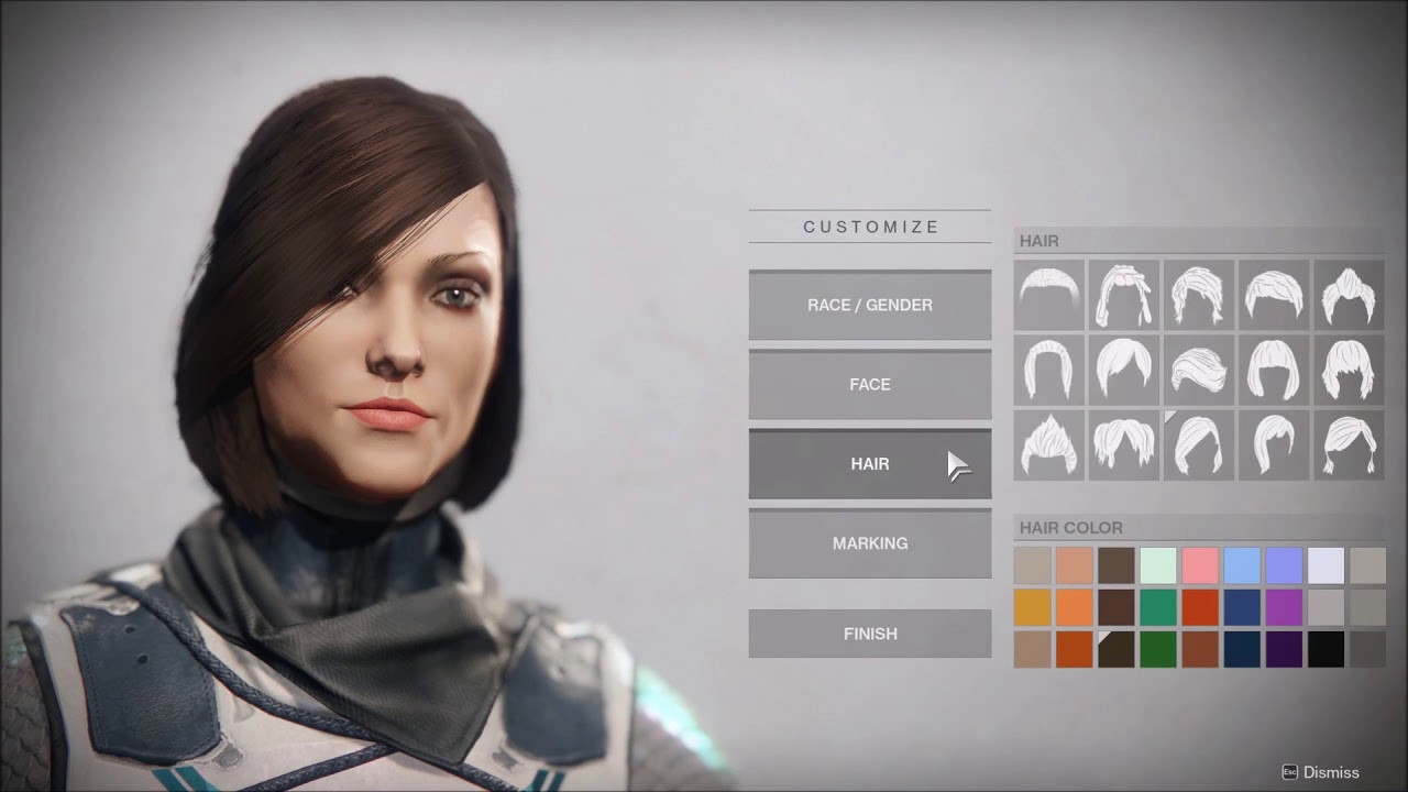 Destiny Human Female Hairstyles From Behind  Destiny 2 Attractive Human Female Character