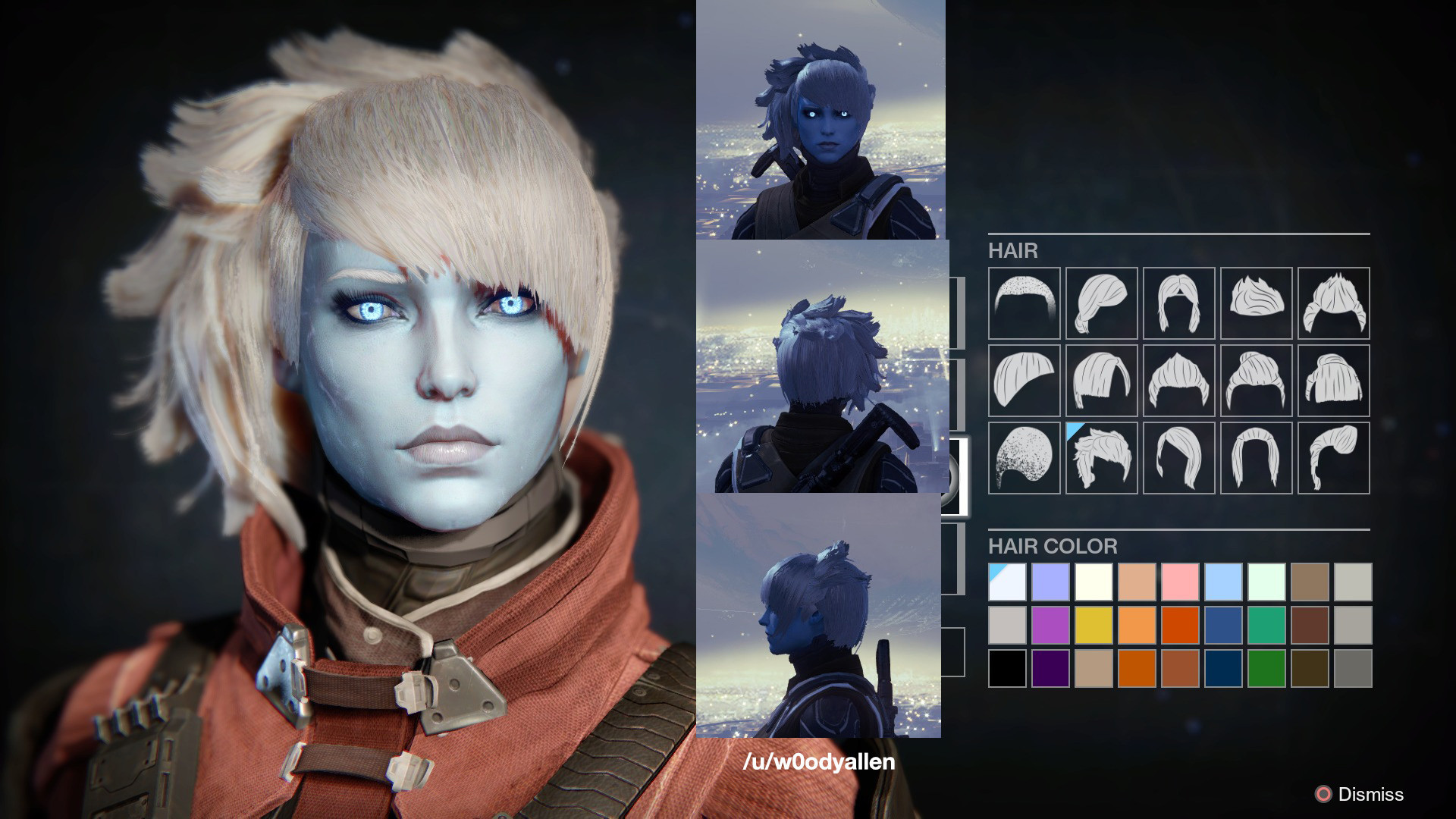 Destiny Human Female Hairstyles From Behind  Destiny Awoken Female Hairstyles what your hair looks