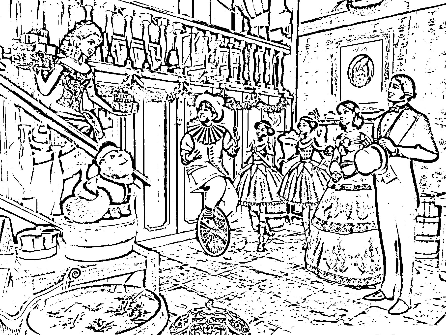 Difficult Christmas Coloring Pages For Kids  Christmas Coloring Pages Hard