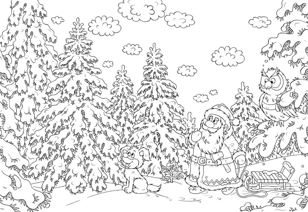 Difficult Christmas Coloring Pages For Kids  Coloring Pages Hard Christmas Coloring Pages