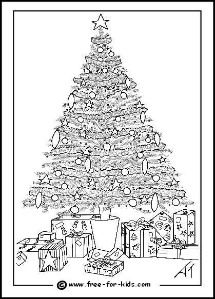 Difficult Christmas Coloring Pages For Kids  Difficult Christmas
