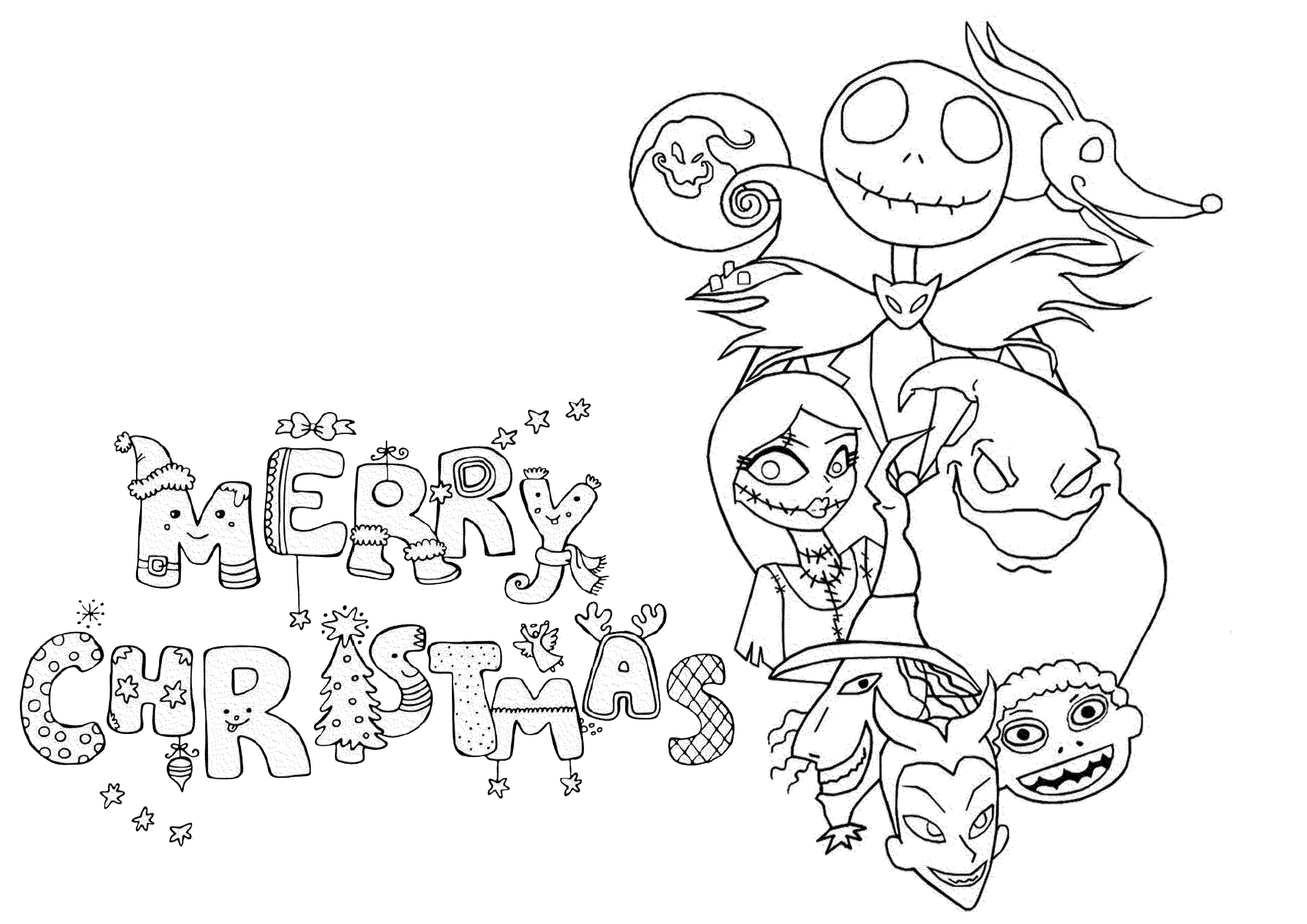 Difficult Christmas Coloring Pages For Kids  Difficult Christmas Coloring Pages Free