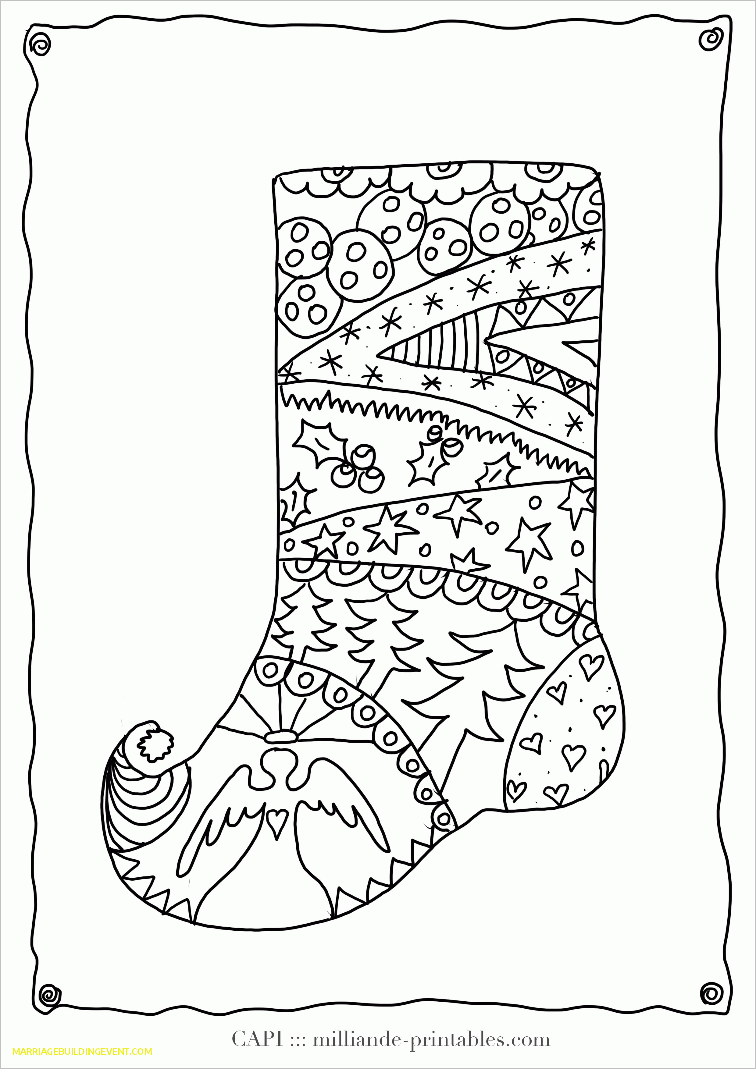 Difficult Christmas Coloring Pages For Kids  Difficult Christmas Coloring Pages for Kids Luxury Unique