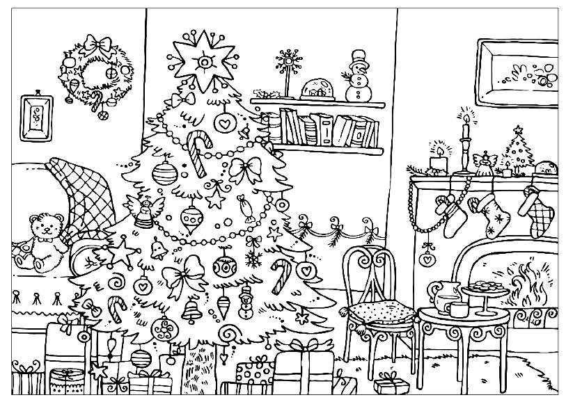 Difficult Christmas Coloring Pages For Kids  Advanced Coloring Pages Hard and Difficult to Color