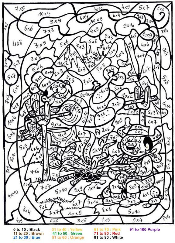 Difficult Color By Number Coloring Pages For Adults  Get This Difficult Color by Number Pages for Grown Ups