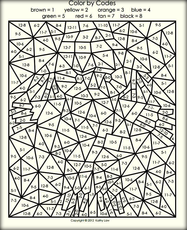 Difficult Color By Number Coloring Pages For Adults  Difficult Color By Number Printables For Adults Color Zini