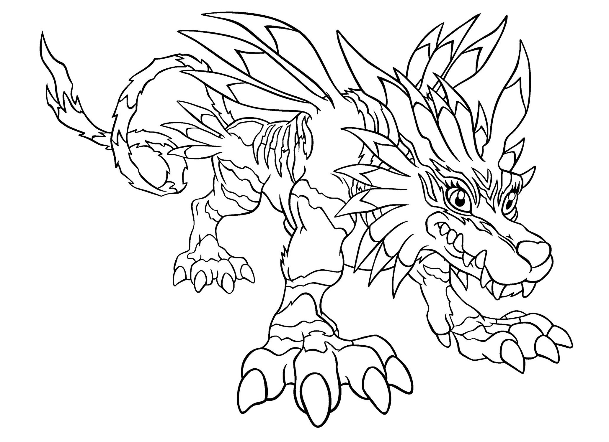 Digimon Coloring Pages  Digimon Color Page Coloring Pages For Kids Cartoon
