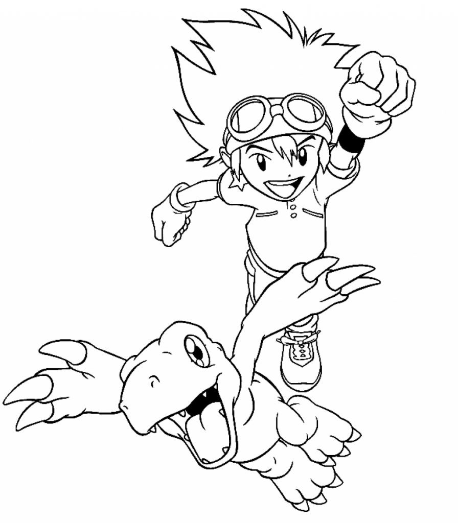 Digimon Coloring Pages  Free Printable Digimon Coloring Pages For Kids