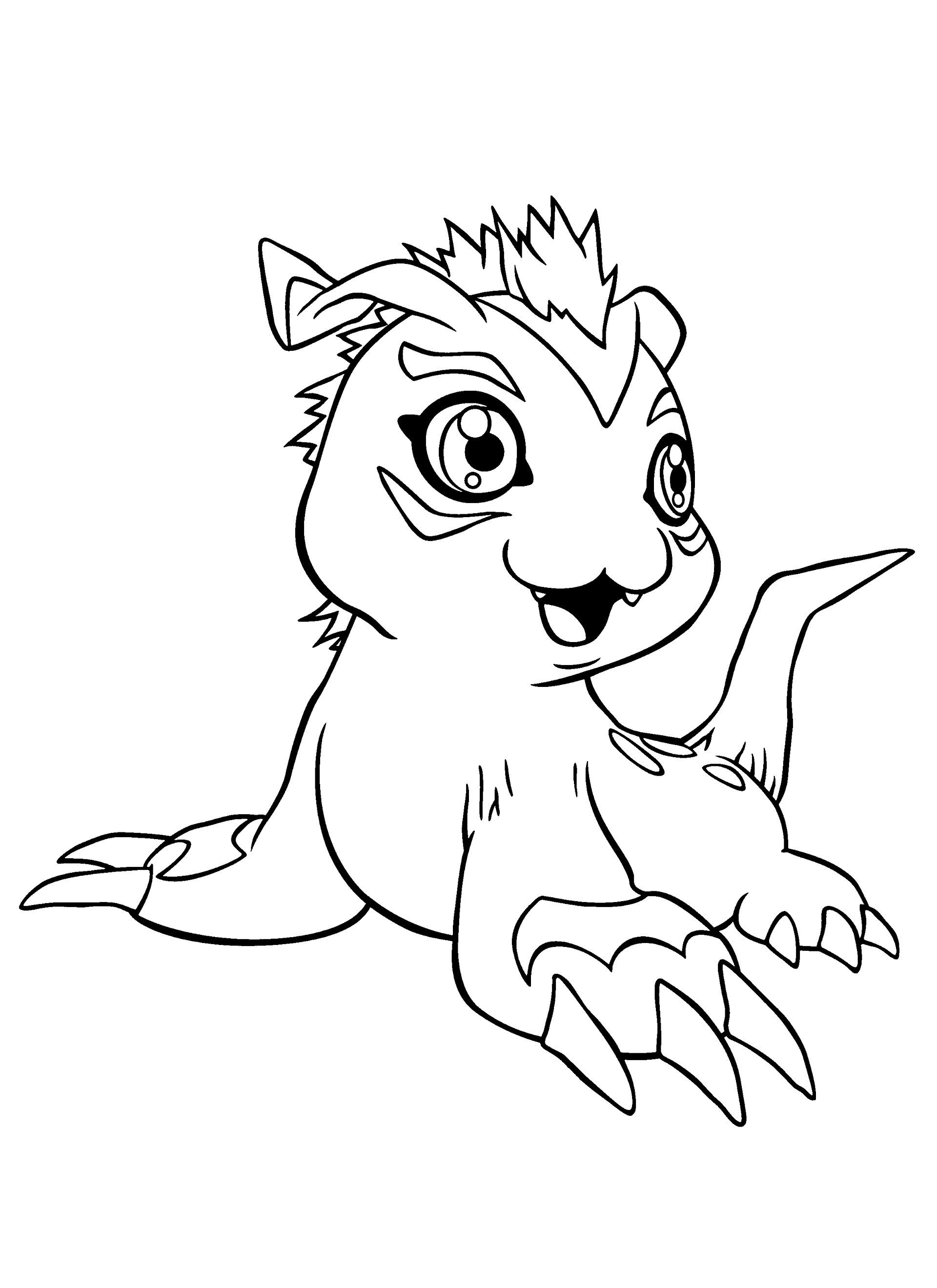 Digimon Coloring Pages  Dibujos de Digimon para colorear pintar e imprimir gratis