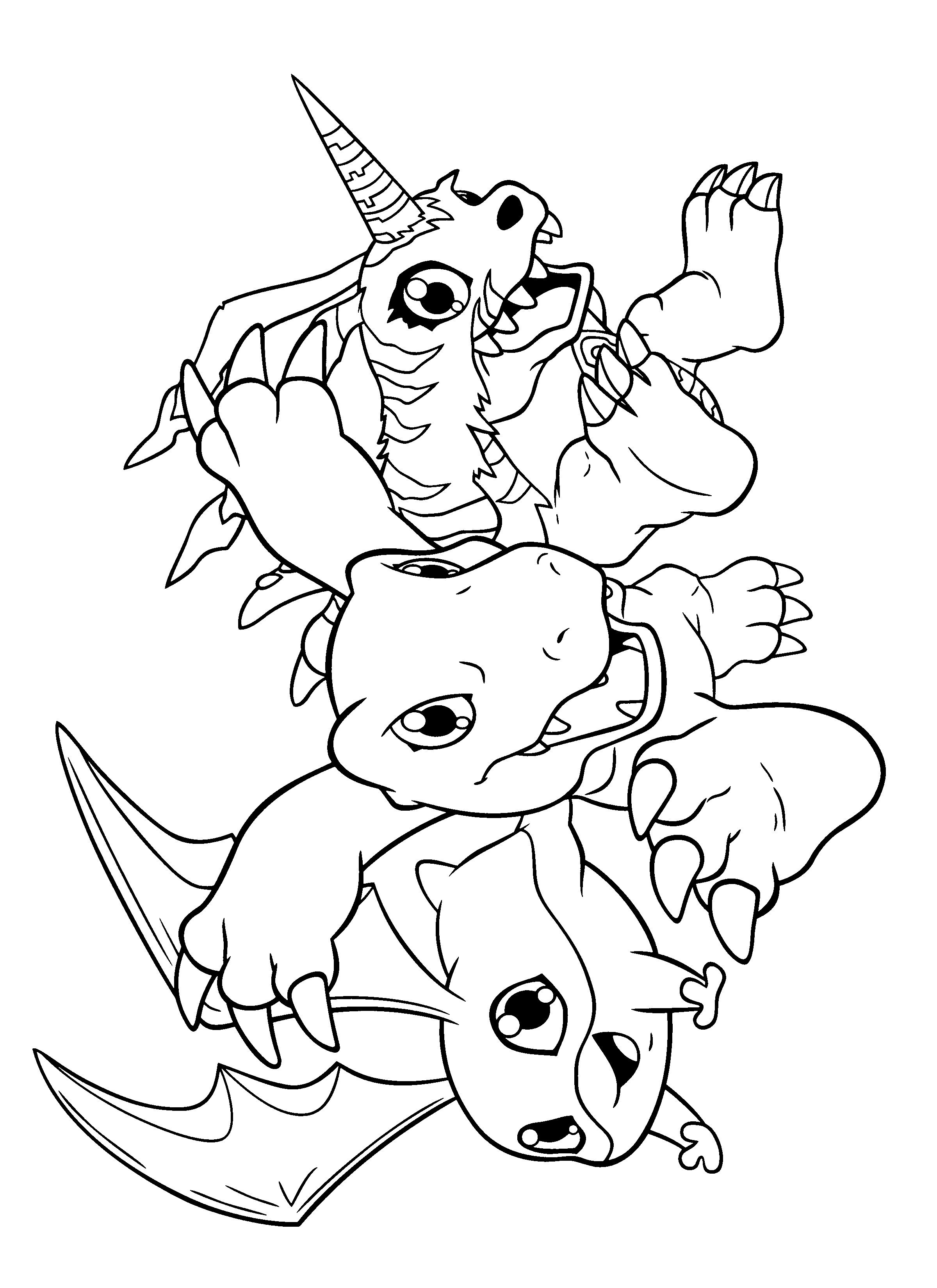 Digimon Coloring Pages  Digimon Cards Free Colouring Pages