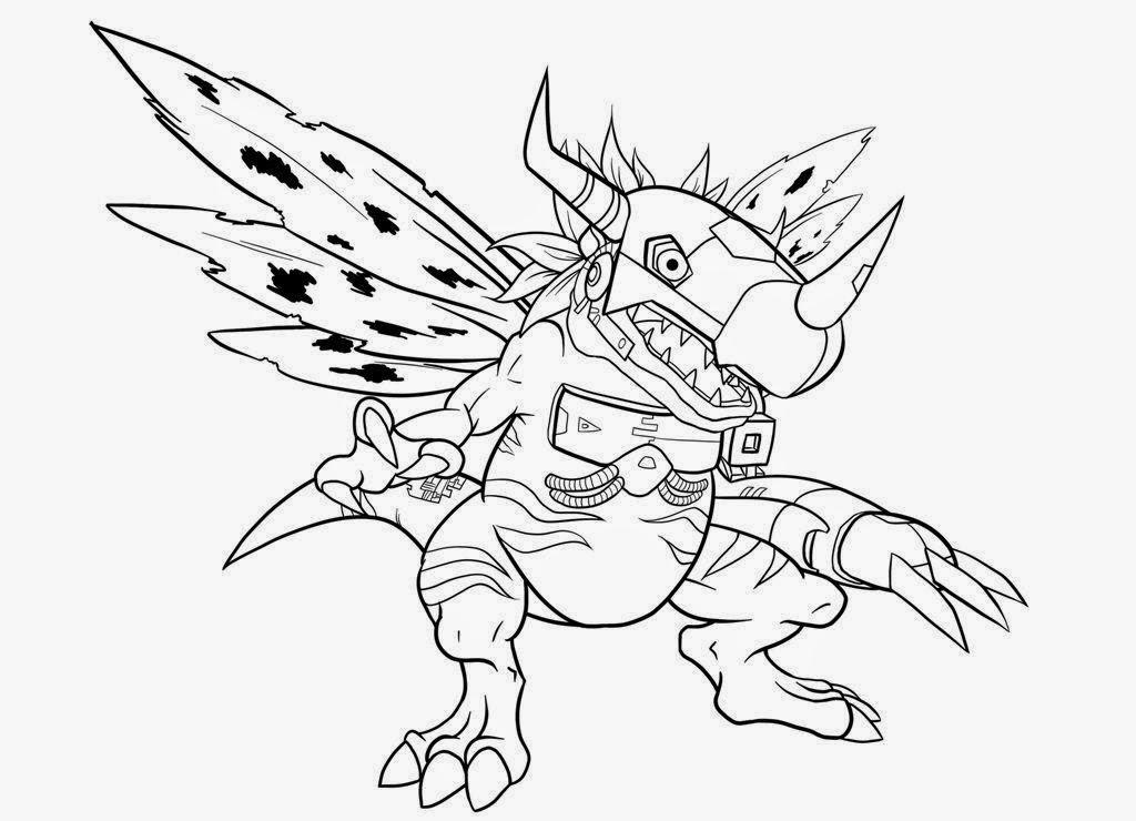Digimon Coloring Pages  Desenhos para Colorir e Imprimir Desenhos Digimon para