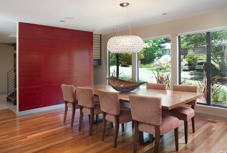 Best ideas about Dining Room Accent Walls . Save or Pin How to Create a Sensational Dining Room with Red Panache Now.