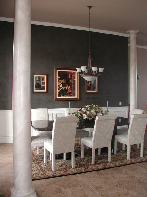 Best ideas about Dining Room Accent Walls . Save or Pin Black Plaster Accent Wall Dining Room Now.