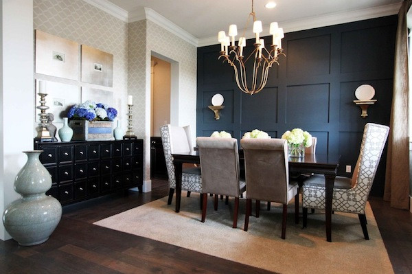 Best ideas about Dining Room Accent Walls . Save or Pin manding a Presence Dark Accent Walls that Make a Statement Now.