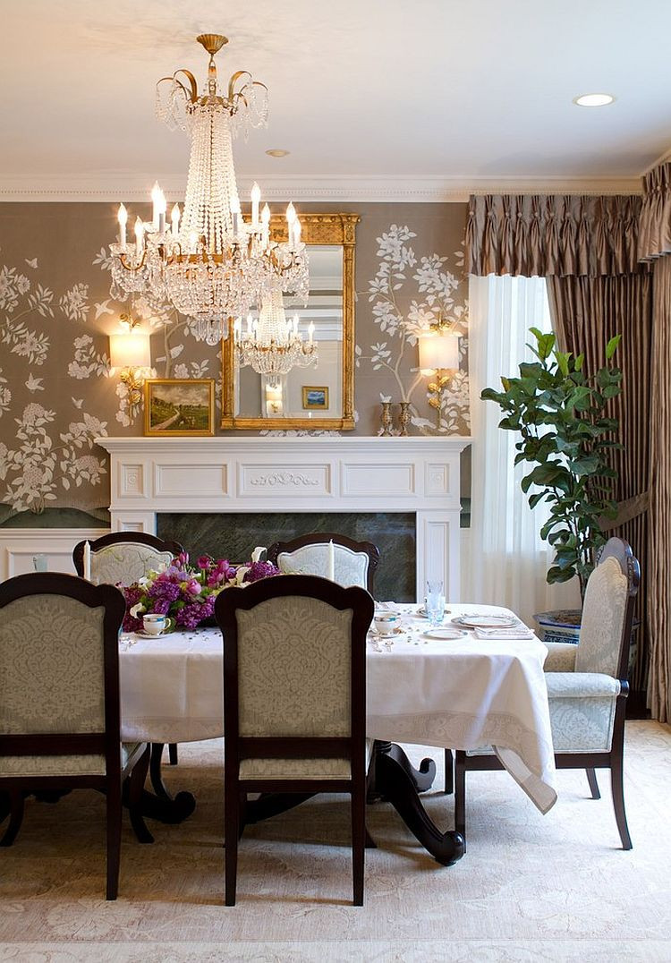 Best ideas about Dining Room Accent Walls . Save or Pin 27 Splendid Wallpaper Decorating Ideas for the Dining Room Now.