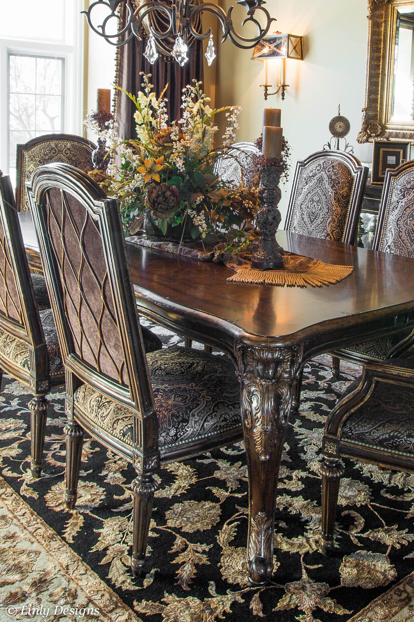 Best ideas about Dining Room Centerpieces . Save or Pin South Barrington Dining Room Project – Linly Designs Now.