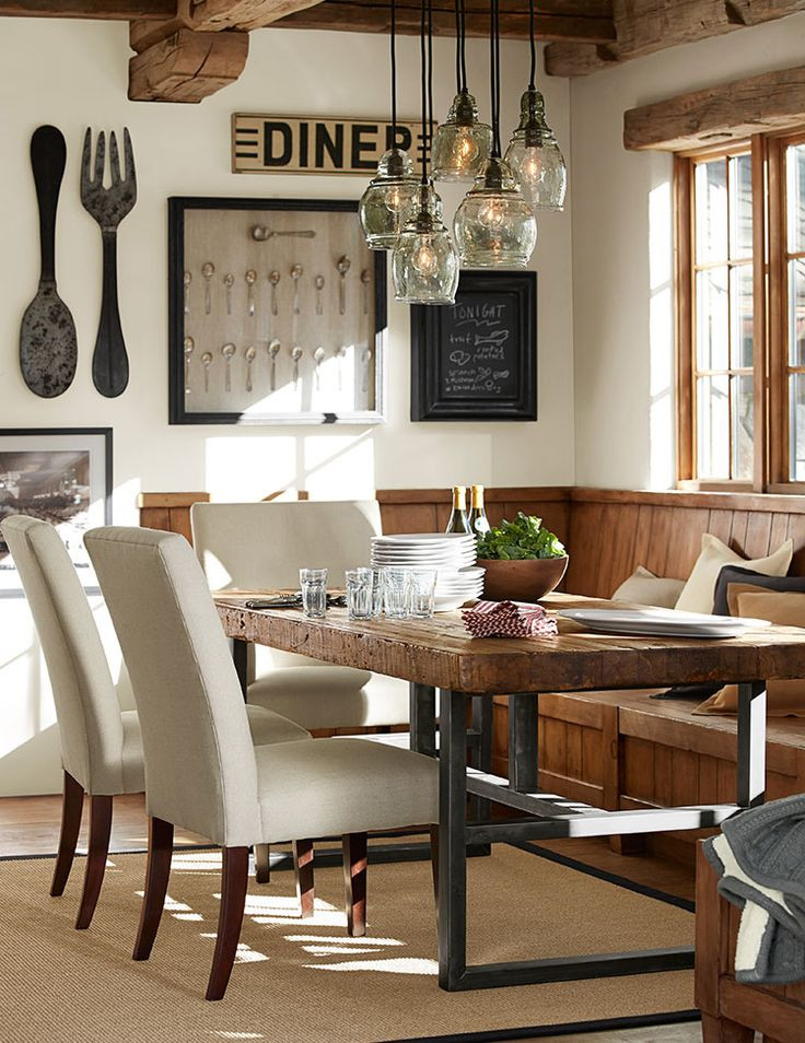Best ideas about Dining Room Lights . Save or Pin 12 Rustic Dining Room Ideas Decoholic Now.