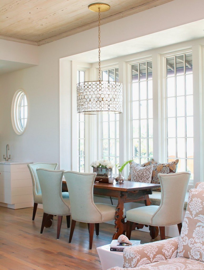 Best ideas about Dining Room Lights . Save or Pin Drum Shade Chandelier in Different Dining Rooms to Try Now.