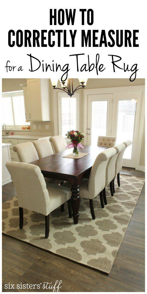 Best ideas about Dining Room Rug Size . Save or Pin Dining Room Rugs Size Under Table Now.