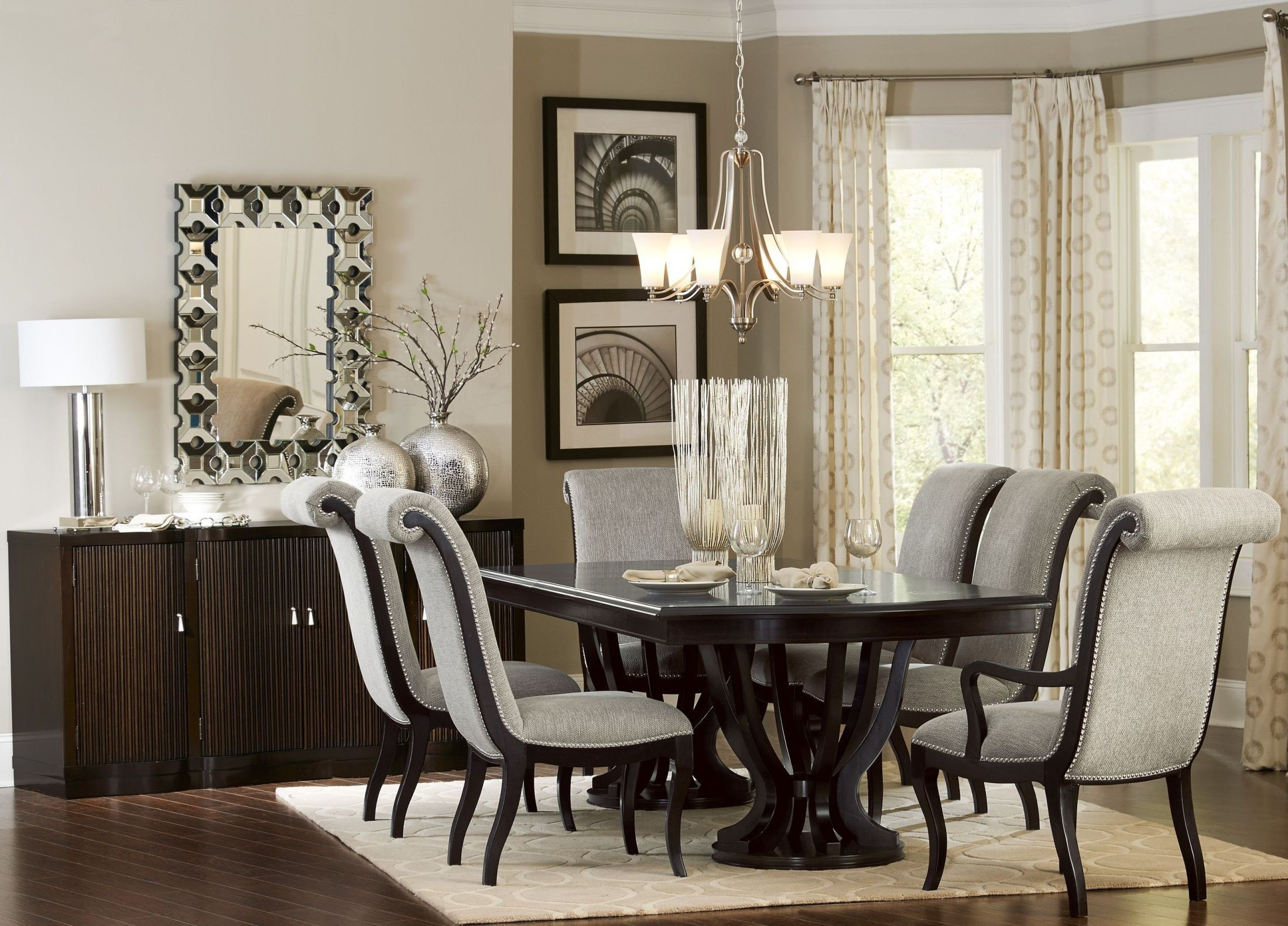 Best ideas about Dining Room Set . Save or Pin Savion Espresso Natural Tone Extendable Dining Room Set Now.
