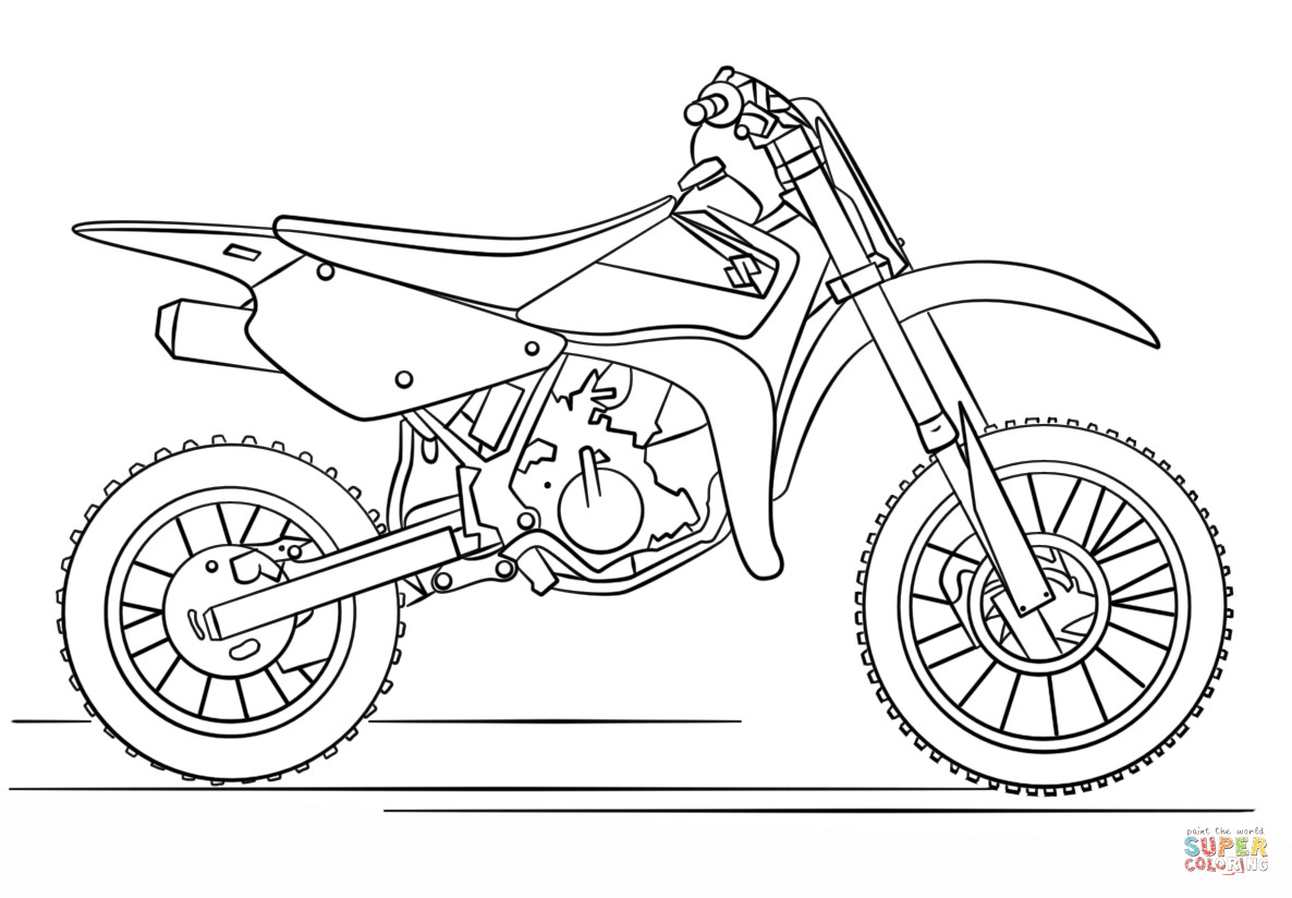 Dirtbike Coloring Pages  Suzuki Dirt Bike coloring page