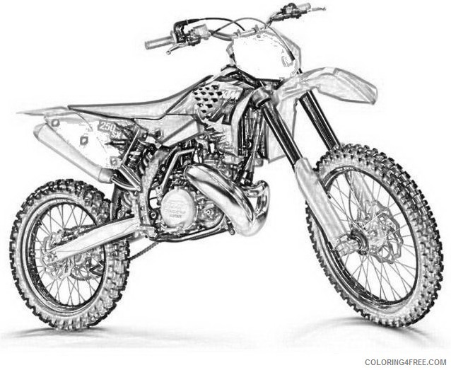 Dirtbike Coloring Pages  yamaha dirt bike coloring pages Coloring4free