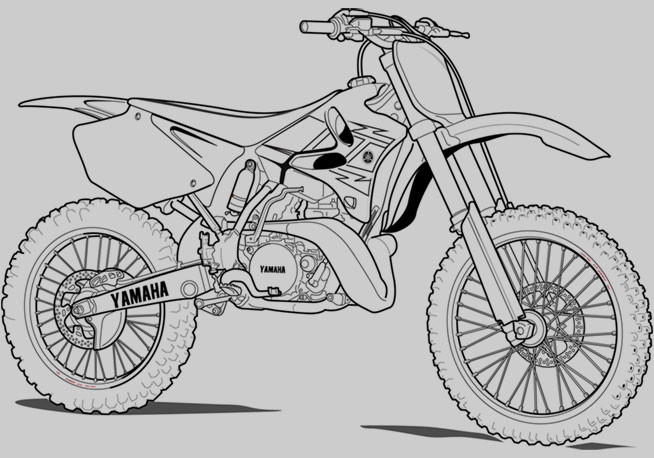 Dirtbike Coloring Pages  Dirt Bike Coloring Pages Coloring pages for Boys