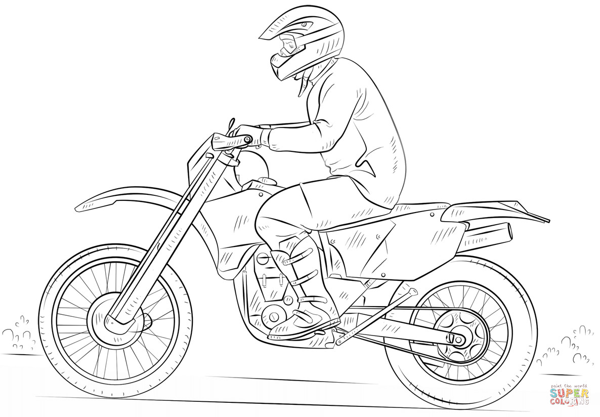 Dirtbike Coloring Pages  Dirt Bike coloring page