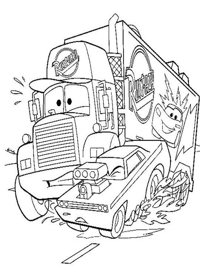 Disney Cars Coloring Book Pages  Coloring of Disney Characters