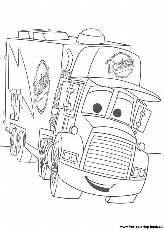 Disney Cars Coloring Book Pages  Coloring pages Cars Disney Pixar Page 1 Printable
