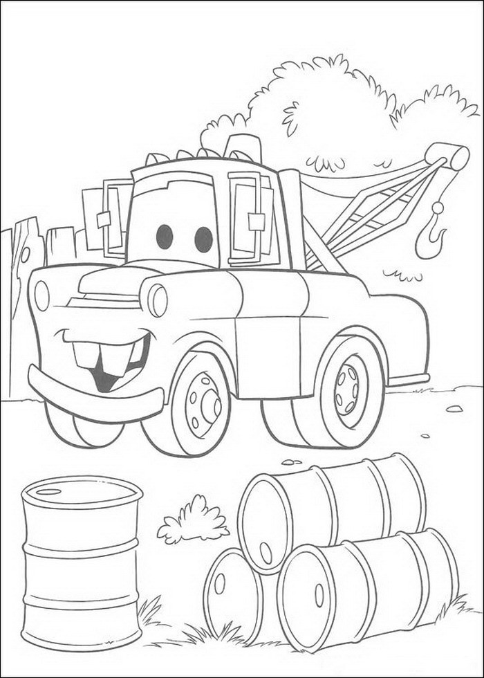 Disney Cars Coloring Book Pages  Disney Cars Coloring Pages Coloring Page For Kids