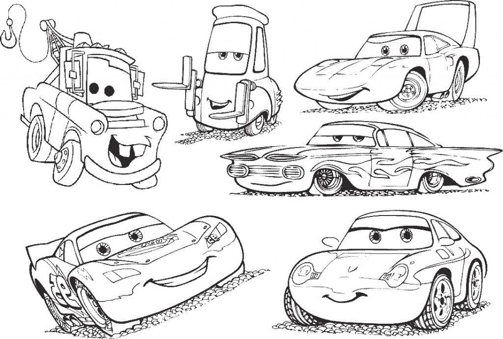 Disney Cars Coloring Book Pages  Cars Coloring Pages Free Disney Printables For Kids To