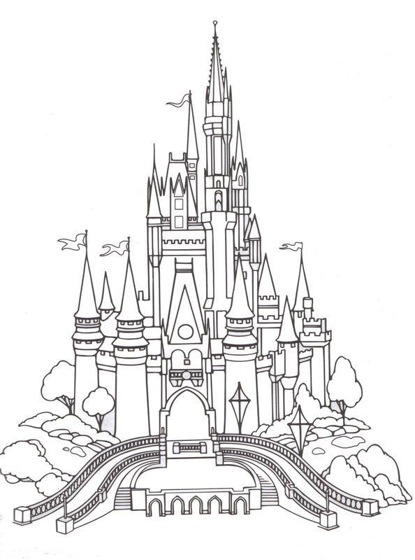 Disney Castle Coloring Pages  Fantasyland Cinderella s Castle Disneyland & Walt Disney