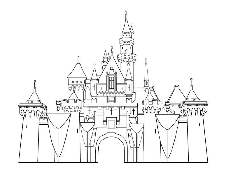 Disney Castle Coloring Pages  Free Printable Castle Coloring Pages For Kids